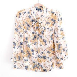 NWOT ModCloth Floral Tie Front Button Down Blouse
